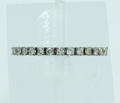 Aliança Inteira Ouro Branco 18k750 Diamantes 2013