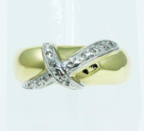 Aneis De Ouro 18k750 Diamantes 1962