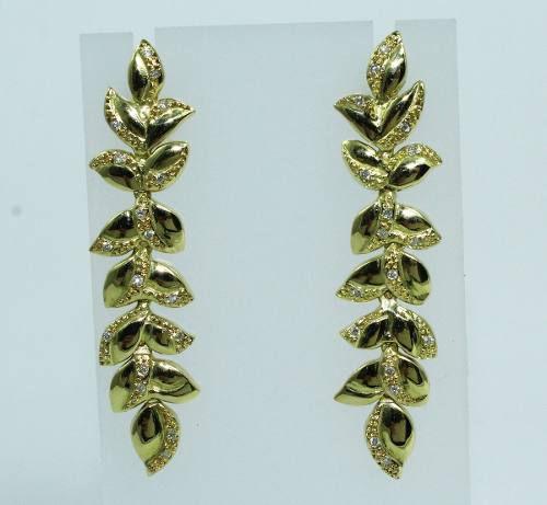 Brincos De Ouro 18k750 Diamantes B667