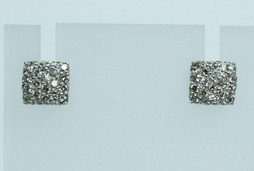 Brincos De Ouro Branco 18k750 Diamantes B656