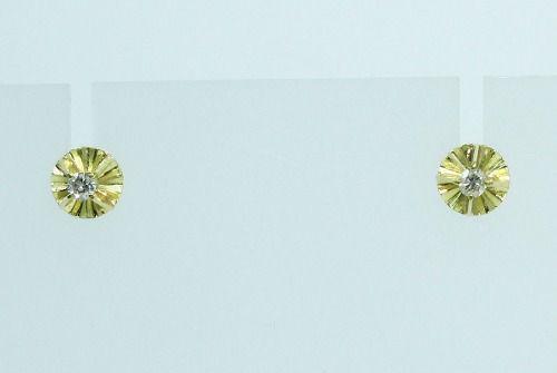 Brincos De Ouro 18k750 Diamantes B606
