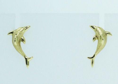 Brincos De Ouro 18k750 Golfinho B605