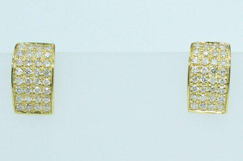 Brincos De Ouro 18k750 Diamantes B575