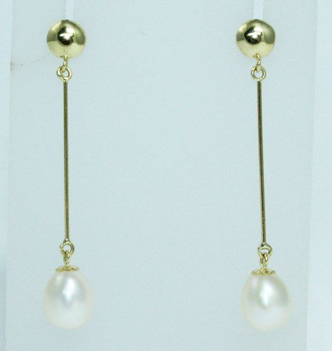 Brincos De Ouro 18k750 Diamantes Pérolas B559