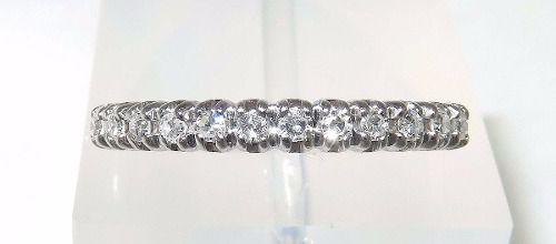Anel De Ouro Branco 18k750 Diamantes 1104