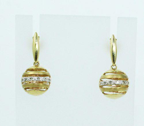 Brincos De Ouro 18k750 Diamantes B515