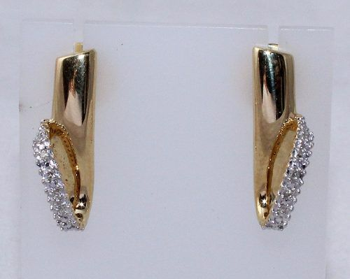 Brincos De Ouro 18k750 Diamantes B509