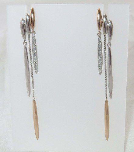 Brincos De Ouro 18k750 Diamantes B331