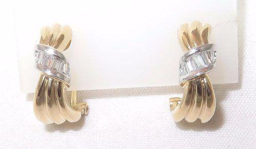 Brincos De Ouro 18k750 Diamantes B433