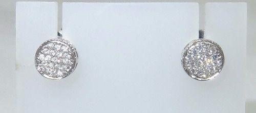 Brincos De Ouro Branco 18k750 Zircônias B428