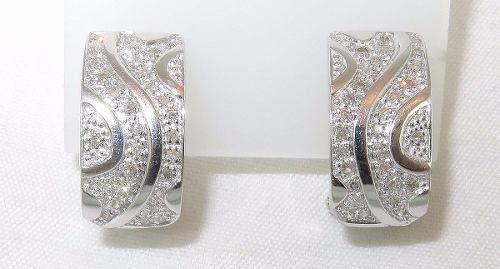 Brincos Ouro Branco 18k750 Diamantes B426