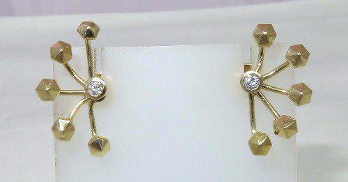 Brincos De Ouro 18k750 Diamantes B414