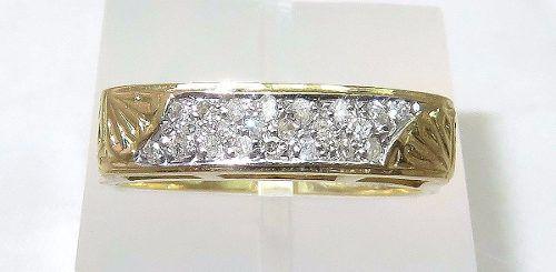 Anel De Ouro 18k750 Diamantes 1077