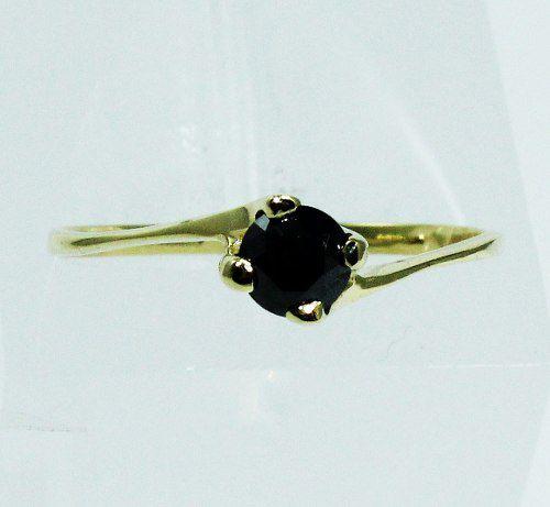 Anel De Ouro 18k750 Diamante Negro 1036