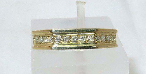 Anel De Ouro 18k750 Diamantes 1029