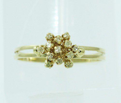 Anel De Ouro 18k750 Diamantes 1024