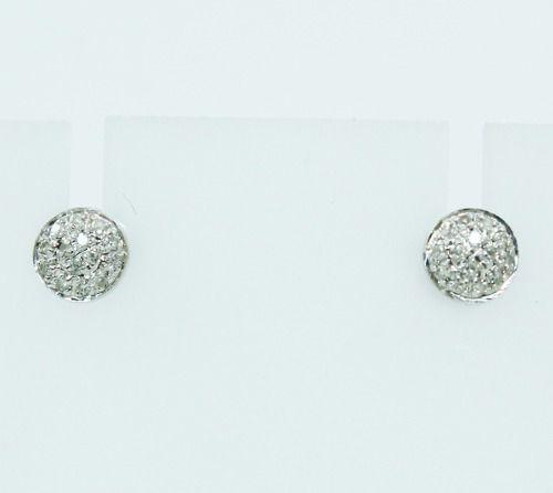 Brincos De Ouro Branco 18k750 Diamantes B863