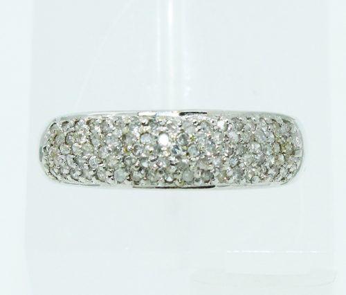 Anel De Ouro Branco 18k750 Diamantes 2457