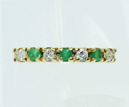 Anel De Ouro 18k750 Diamantes Esmeraldas 2459