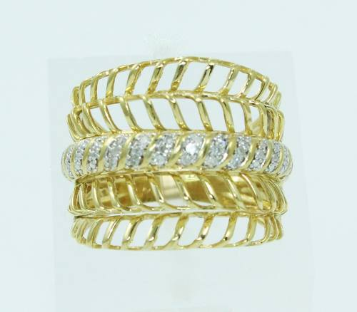 Anel De Ouro 18k750 Diamantes 2460