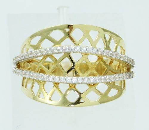 Anel De Ouro 18k750 Diamantes 2465