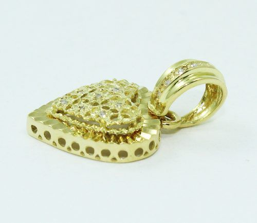 Pingente De Ouro 18k750 Coração Diamantes P693