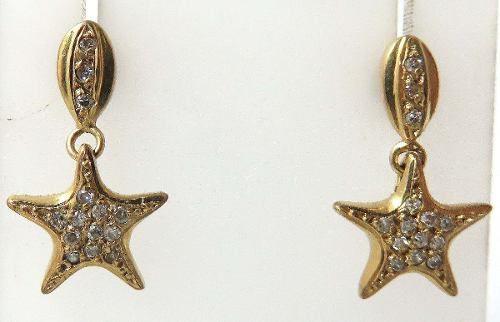 Brincos De Ouro 18k750 Diamantes B118