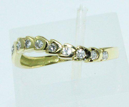 Anel Ouro 18k 750 Diamantes 310