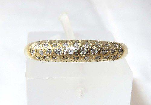 Anel De Ouro 18k750 Diamantes 199