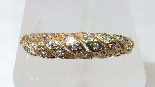 Anel De Ouro 18k750 Diamantes 1005