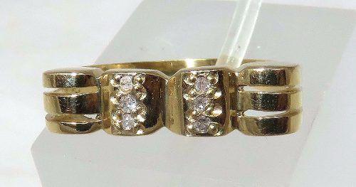 Anel De Ouro 18k750 Diamantes 989