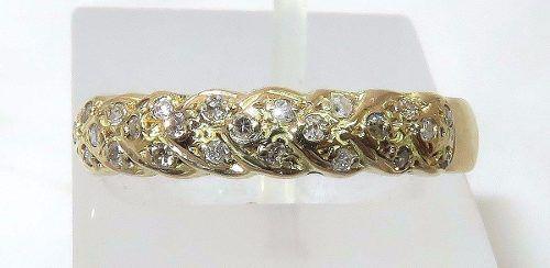 Anel De Ouro 18k750 Diamantes 981