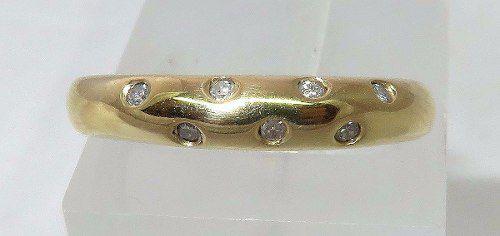 Anel De Ouro 18k750 Diamantes 976