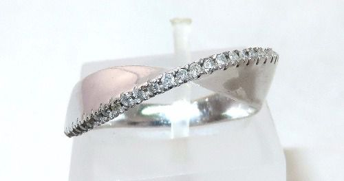 Anel De Ouro Branco 18k750 Diamantes Vivara 934