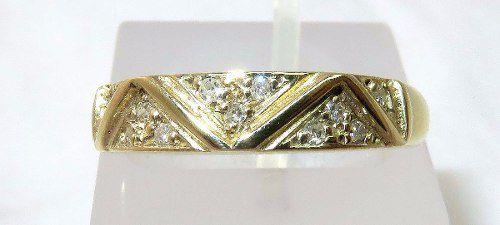 Anel De Ouro 18k750 Diamantes 920