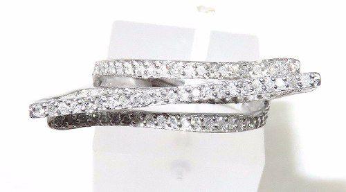 Anel De Ouro Branco 18k750 Diamantes 907