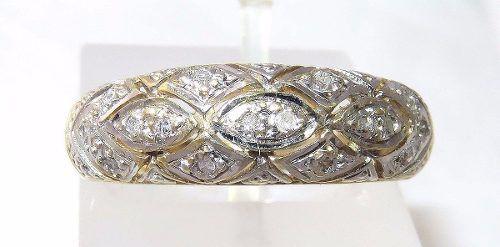Anel De Ouro 18k750 Diamantes 894