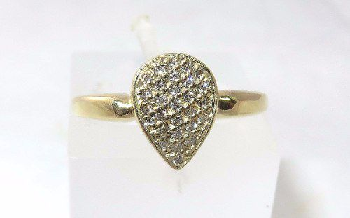 Anel De Ouro 18k750 Diamantes 878