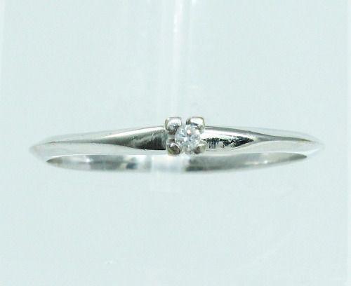 Anel De Ouro Branco 18k750 Diamante Solitário 47