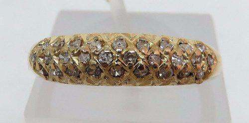 Anel De Ouro 18k750 Diamantes 239