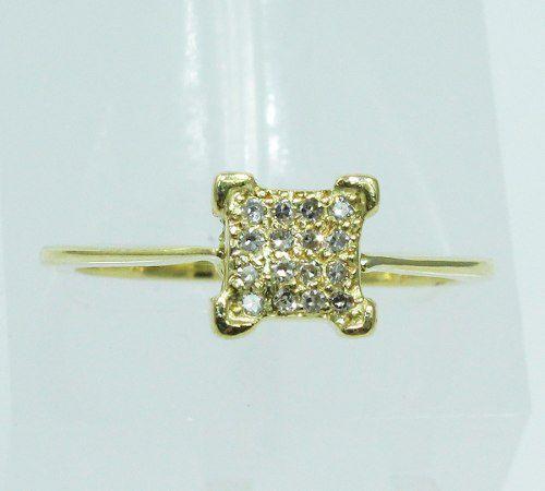 Anel De Ouro 18k750 Diamantes 360