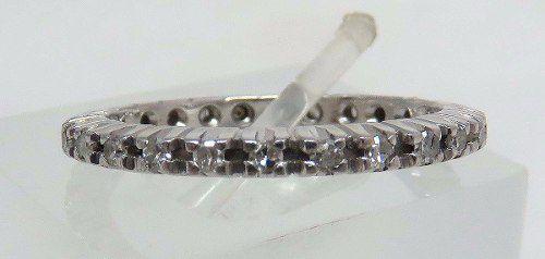 Aliança Inteira Ouro Branco 18k750 Diamantes 862