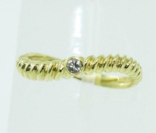 Anel De Ouro 18k 750 Diamante 197