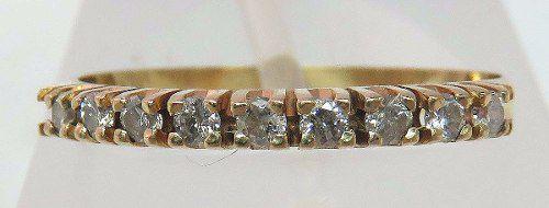Meia Aliança De Ouro 18k750 Diamantes 837