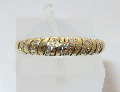 Anel De Ouro 18k 750 Diamantes 71