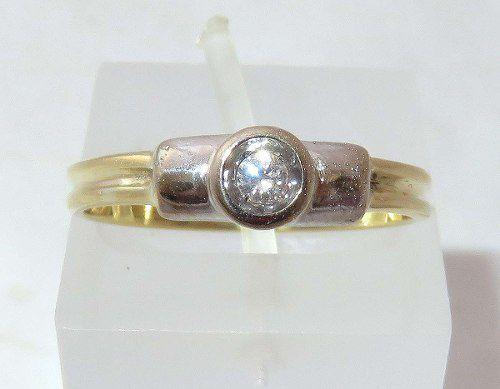 Anel De Ouro 18k750 Diamante 301