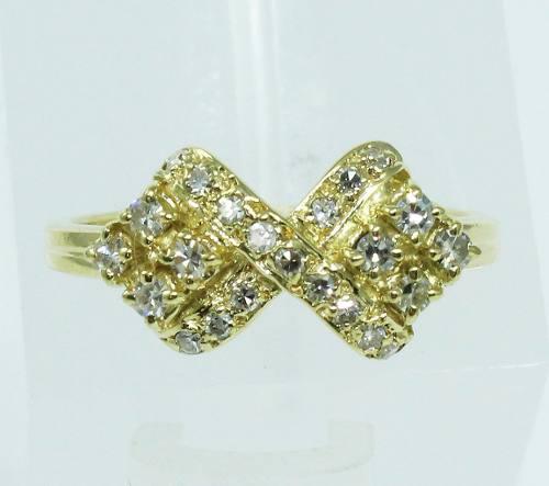 Anel De Ouro 18k750 Diamantes Lindos 339