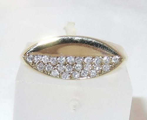 Anel De Ouro 18k750 Diamantes 419