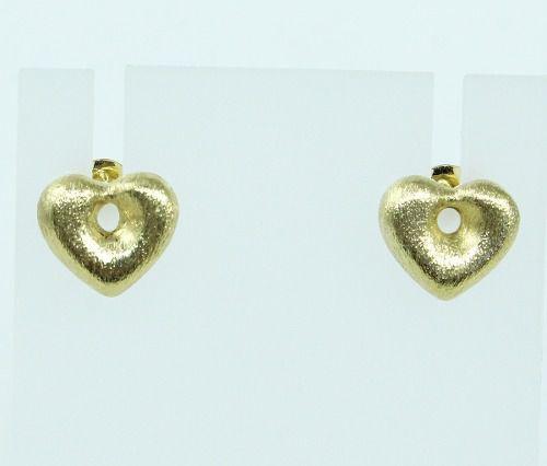 Brincos De Ouro 18k750 Coração B98