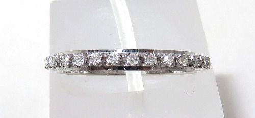 Aliança Inteira De Ouro 18k750 Diamantes 861